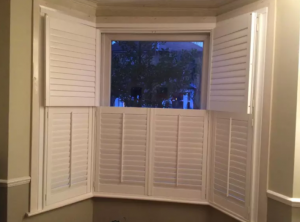 White shutter blinds
