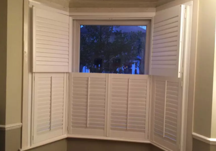 White shutter blinds
