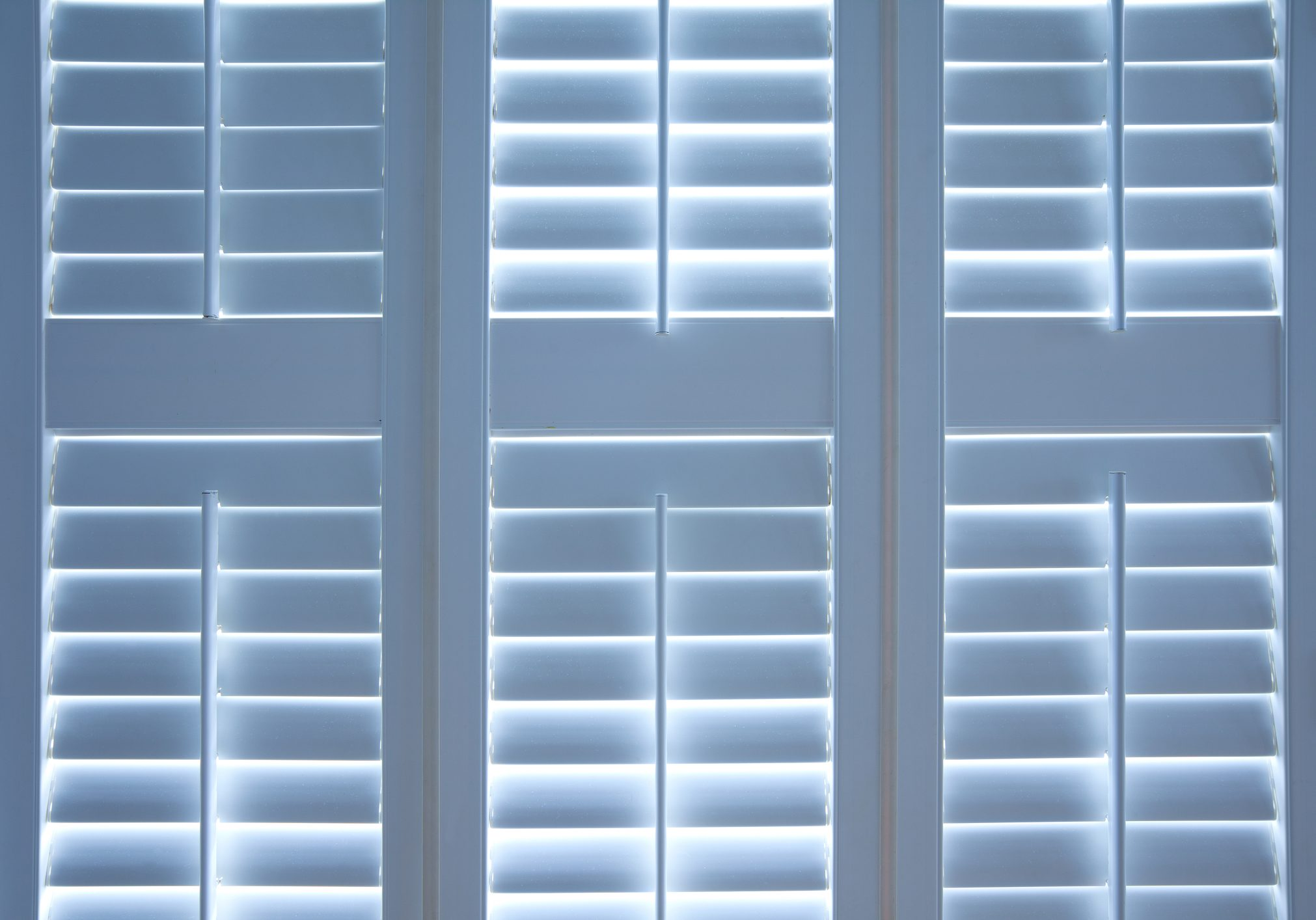 Detail of closed blinds